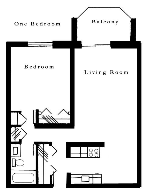 1 Bedroom Apartment for Rent - Roseville, MN